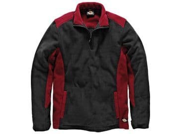 Two Tone Red/Black Micro Fleece - XL (48-50in)